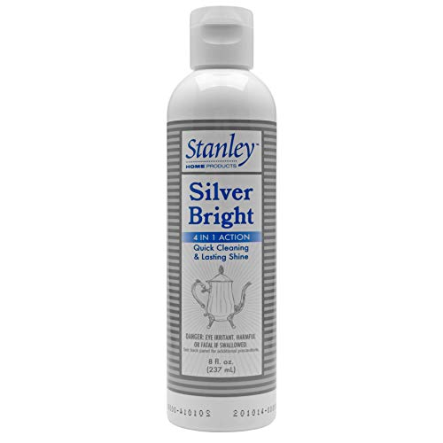 Stanley Home Silver Bright – Silver Cleaner & Polish – for Silver Plate, Sterling, Chrome, Fine Antique Silver – Safely Cleans, Removes Tarnish & Helps Prevent Future Tarnish