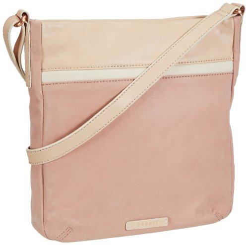 ESPRIT Tasche 043EA1O024, Damen Umhängetaschen, Pink (Pearl Rose 684), 25x28x5 cm (B x H x T)