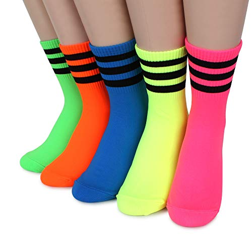 Intype Neon bunte lustige socken Damen mix match Street fashion Stil (5 Paare) FL 15