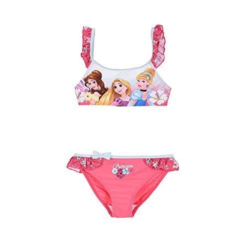 Disney Costume 2 Pezzi da Mare Ufficiale Principesse per Bambina Piscina 3135 Fuxia 3 Anni
