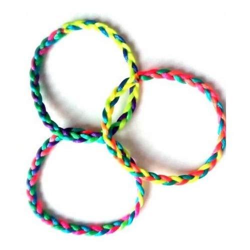 Les Colis Noirs LCN - Lot de 12 Bracelet Bresilien - Couleur Aléatoire - Kermesse Enfant - 015