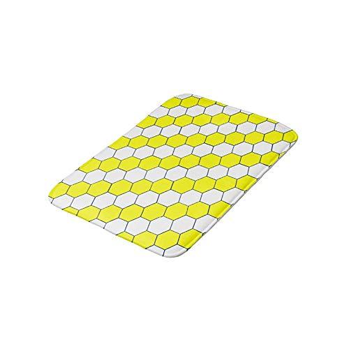 HomeLEE badtapijten en matten, bijenkorf badmatten en anti-slip absorberende badkamer keuken loper vloermat tapijt, 50 x 80 cm