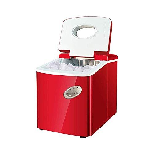 HIZLJJ Eiswürfelmaschinen, Eismaschine durchschauen Deckel Silber Eismaschine Gewerbe 18kg Tea Shop Kleine runde Eis Automatische Eisherstellungsmaschine Hause mit 3 Wählbare Kugel Rund Ice Größe 3L W