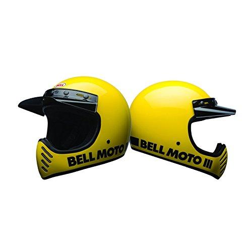 Casco de moto amarillo clásico de BELL