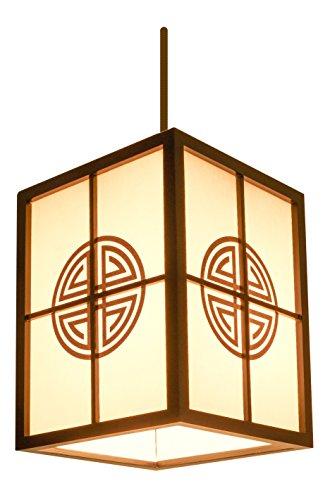 Guru-Shop Lámpara de Mesa Kokopelli Kuchii H1325, Madera, 60x24x24 cm, Lámparas de Mesa Asiáticas