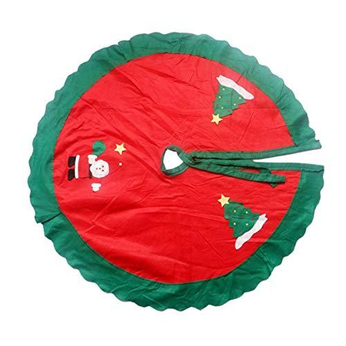 ASR Babbo Natale pupazzo di neve albero di Natale, gonna per albero di Natale a casa, scuola, negozio, ufficio, supermercato (A)