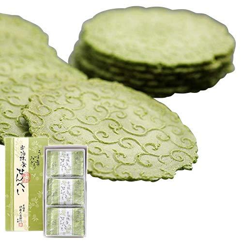 伊藤久右衛門 敬老の日 宇治抹茶せんべい うす葉みどり 煎餅 24枚 化粧箱