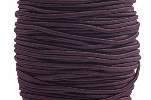 KONMAY 1 Roll 43 Yards 2.0mm Brown Elastic Stretch Beading Cord Elastic String for Beading, Jewelry Making, Crafting, Clothing