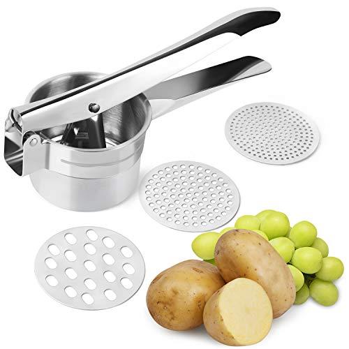 TAOCOCO Potato Ricer Stainless Steel Potato Ricer and Masher, Premium Manual Mashed Fruit Masher, Lemon Squeezer