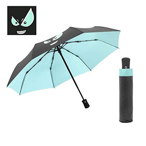 TINERS Paraguas automático Plegable de Vinilo Creativo