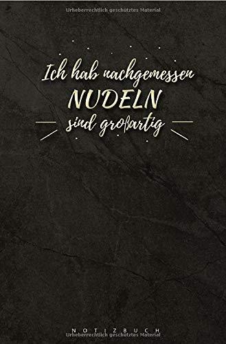 Notizbuch Nudeln: 120 Seiten Ringbindung