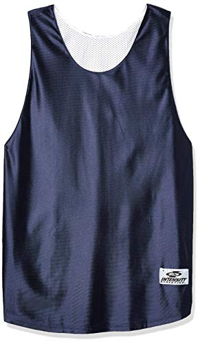 Intensity Mens Dazzle & Tricot Mesh Reversible Jersey, Navy/White, Large