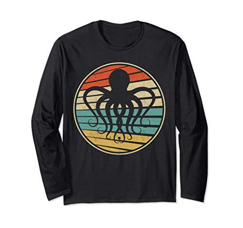 Octopus-Kraken Gift Retro Vintage 70s 80s Sea Animal Lover Maglia a Manica