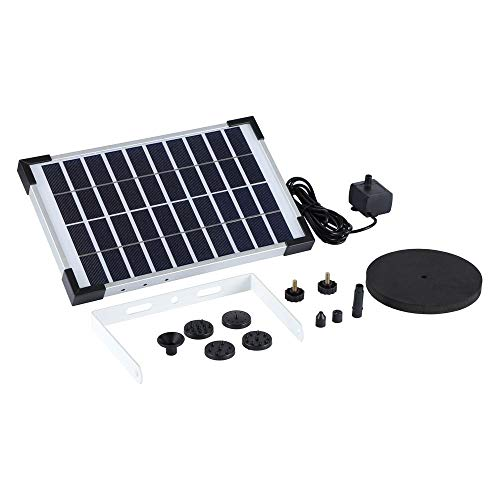 Shinea 5W Solar Fountain Water Pump for Bird Bath Solar Panel Kit Outdoor Fountain for Pond,Pool,Patio,Garden