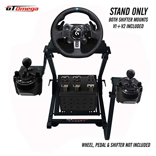 GT Omega PRO Supporto per Volante per Logitech G923 G29 G920 Thrustmaster T500 T300 TX Ruota da Corsa, Pedali,TH8A Cambio Montaggio V1-Fanatec Clubsport PS4