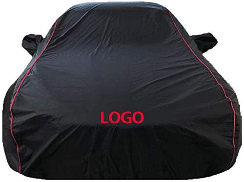 Autoabdeckung Kompatibel mit Audi TT TTS TTRS RS3 RS4 RS5 RS6 RS7 R8 Allwetter Winddicht Schneesicher UV-Schutz Outdoor Baumwolle gefüttert Vollautoabdeckung-Schwarzes hochwertiges einlagiges Oxford-