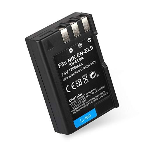 EN-EL9 / EN-EL9A Profesional 7.4V 1200MAH Batería para cámara Digital Batería Recargable de Ion-Litio Adecuada para Nikon DSLR D40 D40X