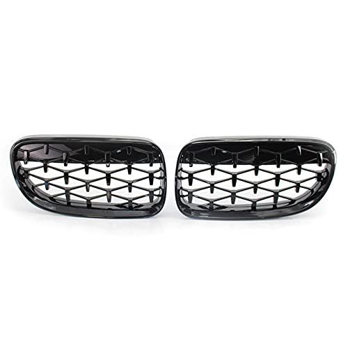 YYMM Rejillas de Autos Parrillas De Diamante para Parrilla Delantera De Coche para B-MW E92 E93 Serie 3 2 Puertas 2006-2014 Parrilla De Carreras De Parachoques Accesorios para Automóviles
