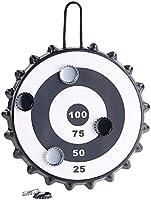 Jouez où vous le souhaitez: cible facile à poser ou à accrocher. Jeu amusant pour les fêtes: possibilité d'utiliser toutes les capsules métalliques (6capsules fournies).