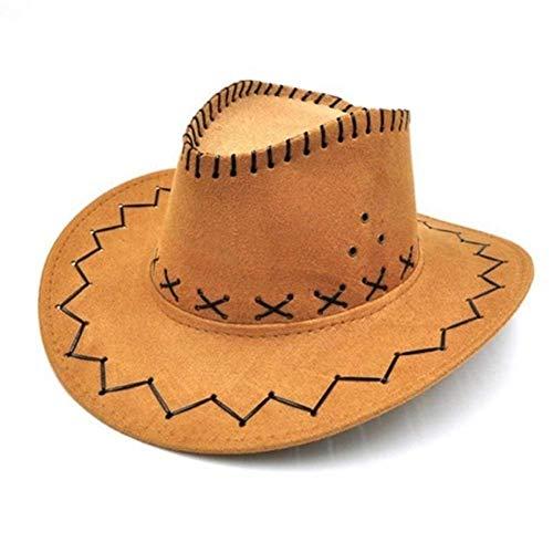 ADSE Sombrero de Vaquero de Vaquera Unisex para niños, niños, niñas, niños, diseño clásico, Trajes de Fiesta, Sombreros de Sol Casuales (Color: Negro, Tamaño: Talla única)