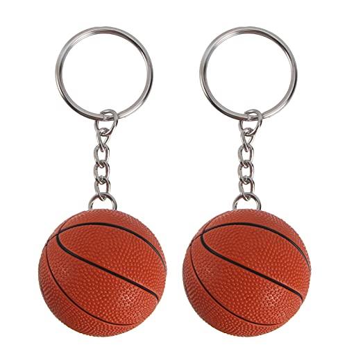 FOMIYES 2 llaveros de baloncesto para baloncesto, llavero único para colgar en la bolsa, adornos creativos para regalos de fiesta, recompensa de carnaval escolar, bolsa de fiesta