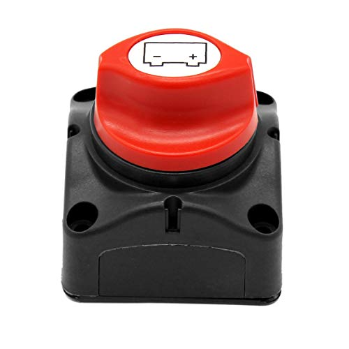 KoelrMsd Interruptor de alimentación de batería automática de Corriente Nominal de 600A Interruptor de Perilla Protectora de energía de batería Interruptor