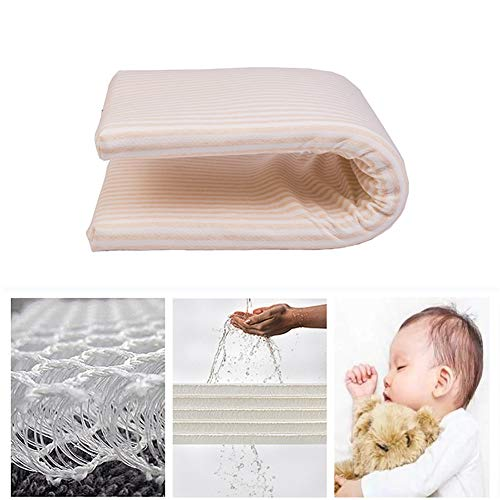 Best Price HBIAO Crib Mattress Pad, Breathable Removable Waterproof 100-percent Cotton Non-Slip 3D B...