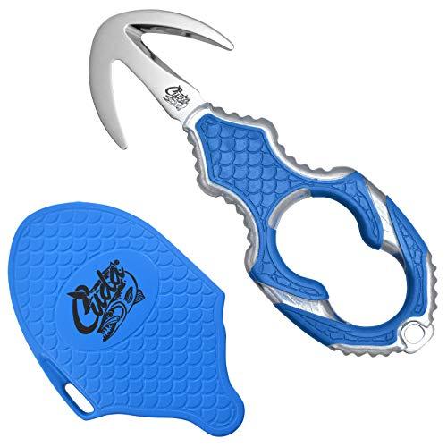 Cuda Rettungs- und Notfallmesser, Klingenlänge: 3,8 cm, Titanium Bonded-beschichtete Klinge, Edelstahl, rostfrei, 18181 Rettungsmesser, blau, Länge: 13 cm