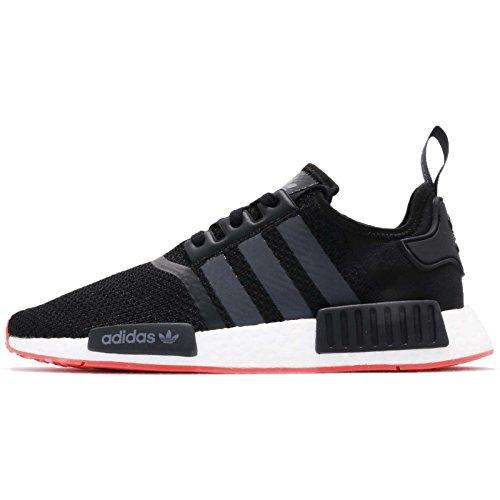 adidas Herren NMD_r1 Gymnastikschuhe, Schwarz (Core Black/Carbon S18/trace Scarlet S18), 40 2/3 EU