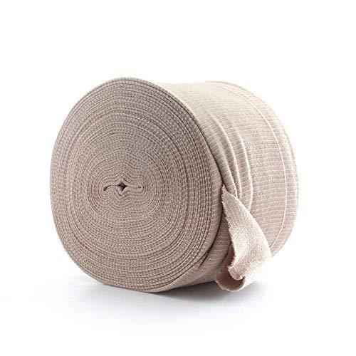 MediChoice Tubular Elastic Support Bandage, for Large Thigh, Cotton Spandex, Beige, Size G, 4.50 Inch x 11 Yards (Box of 1)