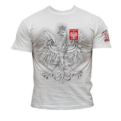 Quaint Point Polska Polen Trikot Herren T-Shirt KP10 (XXL)