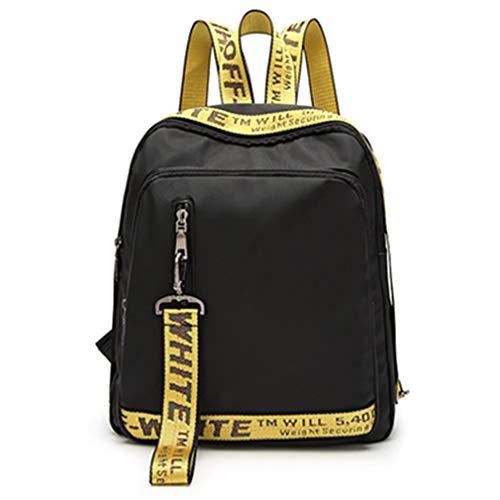 Sacchetto di scuola zaino in pelle PU donna yellow