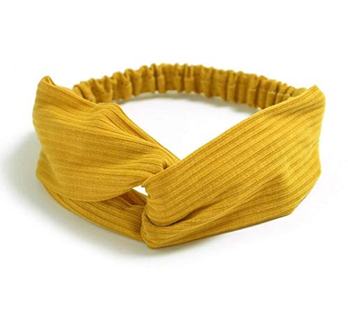 2020 Señora hairband color sólido elástico diadema turbante abrigo de la cabeza Mujeres Accesorios para el cabello para Bandas de pelo de las mujeres de rayas (B7)
