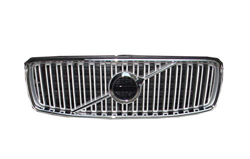 Niergrille Voorklep Inzet Vervangende grille-inzetstukken Accessoires voor Volvo XC90 Glanzend zwart rooster