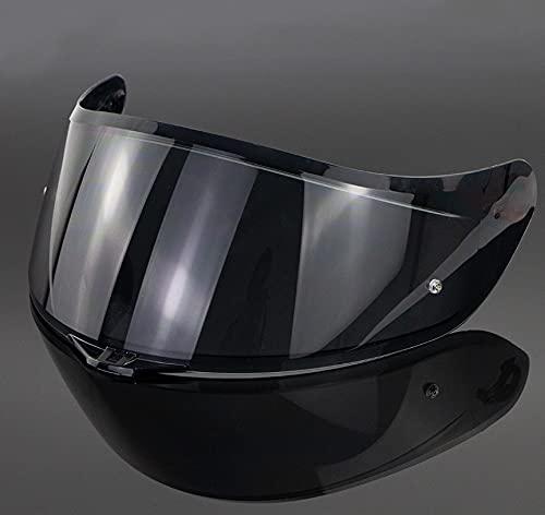 Escudo de Viento de la Motocicleta, Lente de Casco de Visera de la Cara Completa, Visera de Casco Encaja AGV K1 K5 K3SV Casco no se Ajusta a K3 / K4 (Color : Smoke)