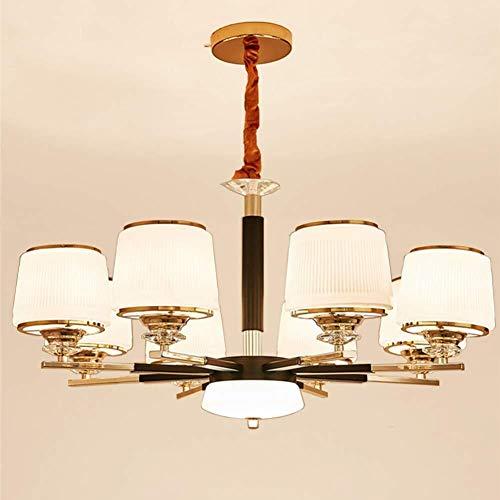 CSD Nueva lámpara de araña de luz LED Clásica 8 cabeza de cristal Pantalla Placa de Metal Light Hotel Restaurante Sala de decoración del hogar