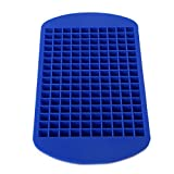 SunTrader 160 Mini Small Ice Cube Tray Frozen Cubes Trays Silicone Ice Mold Kitchen Tool (Blue)