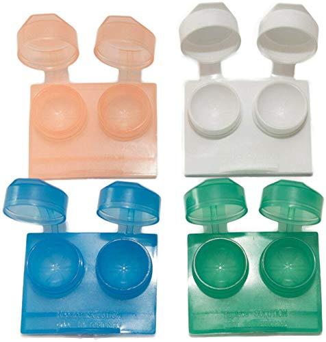 8er-Pack Kontaktlinsenbehälter Links Rechts Flip Top Flach Tragbare Reise-Kontaktlösungsbox Mehrwegbehälter Gemischte Farben von Sports World Vision