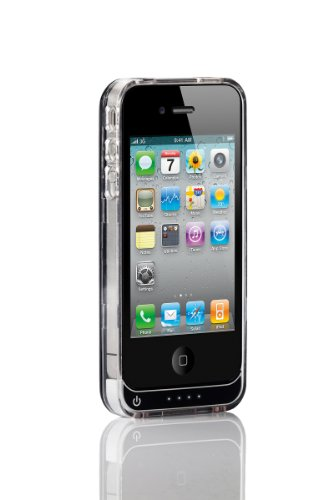 Casepower CASE - 100 External Protective Battery Case for iPhone 4S/4 - Retail Packaging - Black