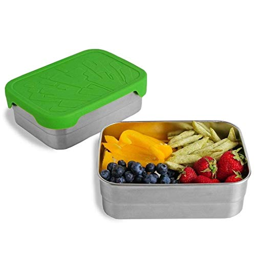 ECOlunchbox Blue Water Bento | Splash Box XL, Große Edelstahldose mit Silikondeckel | Lunchbox | Brotdose | Bento Box