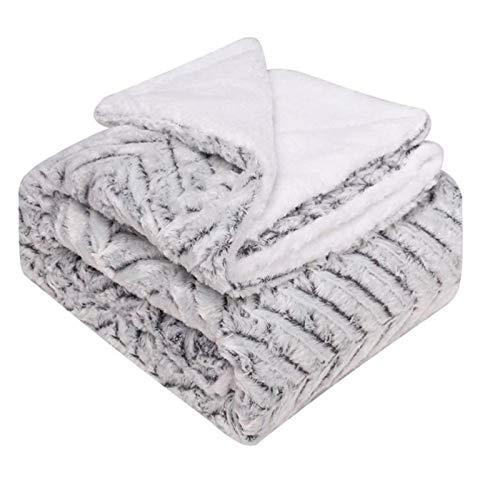 WYLZLIY-Home Manta Reversible Manta De Sofá Manta De Microfibra Fleece Manta, Suave Manta cálida Manta de Microfibra arroja Mantas Manchas Manchas Suaves Todas Las Temporadas Adultos niños