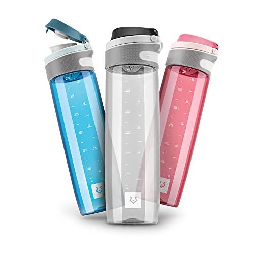 Alphatrail Botella Agua Tritan Jay 750ml Negro 100% Prueba de Fugas I sin BPA & Ecológicamente I Seguro Lavavajillas I para una hidratación óptima en la Vida Diaria