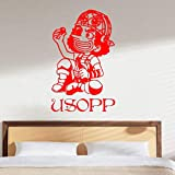 zhuziji Creative DIY Wall Art of Japanese Anime One Piece Usopp Adhesivos de...