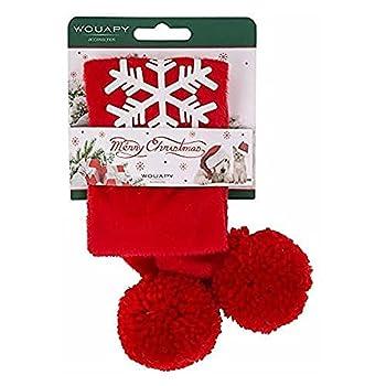 Wouapy Echarpe De Noël pour Chiens Et Chats, Écharpe d'une Largueur De 5 Cm par 40 Cm De Longueur pour Chien Moyen