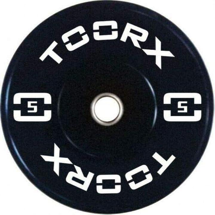 Toorx n° 2 pezzi disco olimpico bumper training da 5 kg - foro 50 mm B08D5W3JSJ