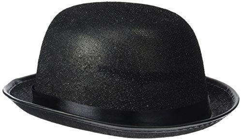 Rire Et Confetti - Fiedis064 - Accessoire pour Déguisement - Chapeau Melon Pailleté Noir