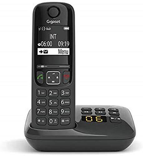 Gigaset AS690A - Téléphone fixe sans fil avec répondeur - Noir