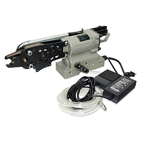 Woodpecker JC-7CA52W - Pistola de grapas de anillo de cerdo mecánico programable...