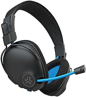 JLab Play Pro - Auriculares inalámbricos para videojuegos, 60 horas de reproducción Bluetooth 5 60 ms de latencia súper baja para juegos móviles, micrófono retráctil con pluma   Cable auxiliar para juegos compatible con consolas de juegos