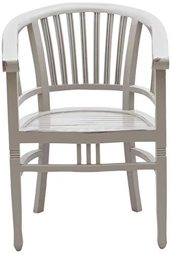 SIT-möbel 9769-97 spa chaise avec accoudoirs-acacia massif-couleur : taupe, brettsitz, hauteur de l'assise : 47 cm - 61 x 60 x 87 cm